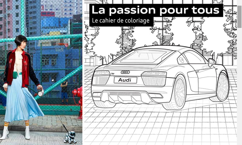 La marque automobile Audi occupe les petits