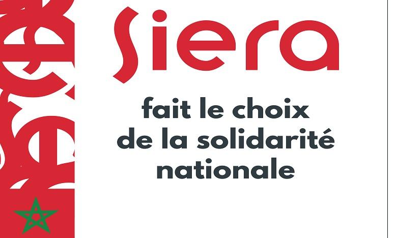 Fonds de lutte anti-COVID-19 : Siera fait don de 10 millions de dirhams