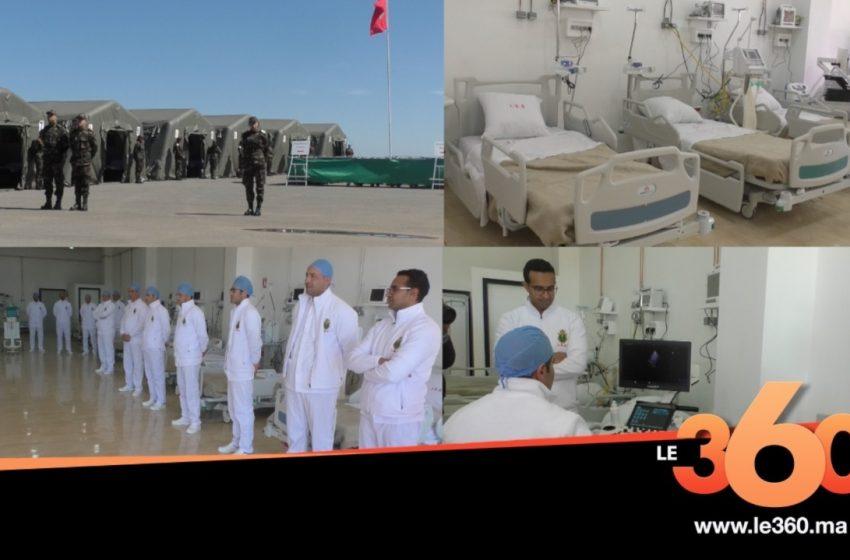 Vidéo. Coronavirus. Reportage: 2e hôpital militaire de campagne au Maroc, ordre et efficacité