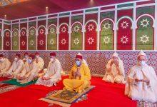 Photo de Sa Majesté le Roi Mohammed VI, Amir Al-Mouminine, accomplit la prière de l'Aïd Al-Fitr